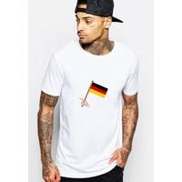 Áo thun nam cổ tròn in hình World cup 2018 cờ Đức