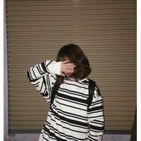 Áo sọc trắng đen