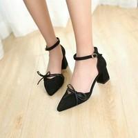 Giày sandal cao gót nơ xinh