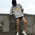 áo hoodie giả 2 áo tay sọc Mã: AS577 - VÀNG