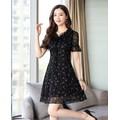 Đầm Xoè Hoa Tygon_VD224
