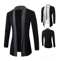 áo khoác kimono nam cá tính Mã: NK0885 - XÁM ĐẬM