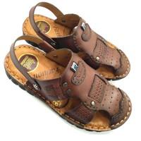 Giày sandal nam da bò thật đế khâu chắc chắn AD46N
