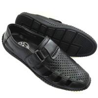 Giày lười nam da bò thật có đục lỗ thoáng đi mùa hè AD42D