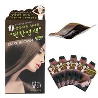 Hộp 5 Gói Thuốc Nhuộm Tóc Thảo Dược Dyeing Pyeonan Hàn Quốc - Nâu Đen