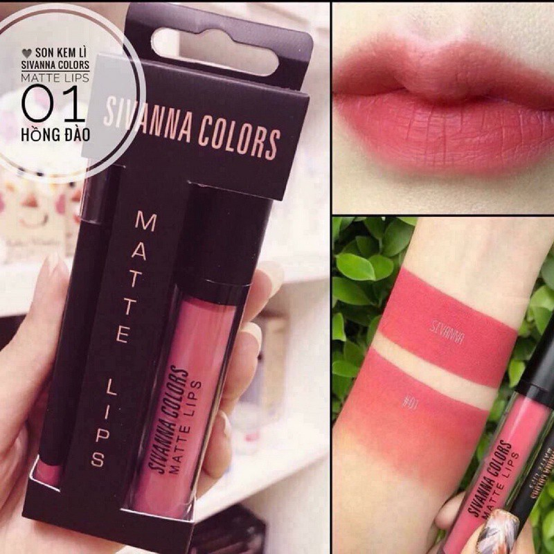 Set son kem lì Sivanna colors matte lips màu 01