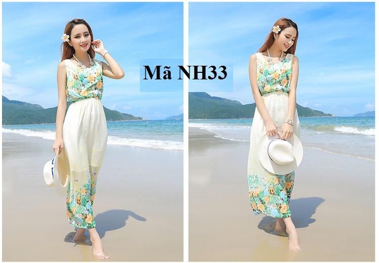 Thướt tha, nữ tính với váy - đầm dài đi biển nh33