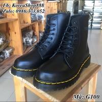 Giày Bốt Dr marten Cao Cổ Da Bò Mã G100