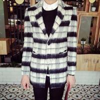 áo khoác măng tô sọc phối màu Mã: NK1158