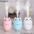 Máy Phun Sương Mini Hình Chú Mèo Tích Hợp Đèn Tặng Kèm Đèn Quạt USB