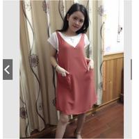 Váy bầu yếm dễ thương loại 1
