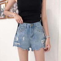 quần short jeans túi rách Mã: QN836 - XANH