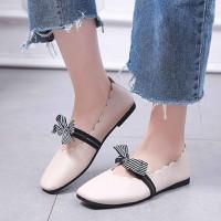 Giày búp bê nữ vintage mũi vuông
