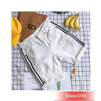 QUẦN SHORT JEANS NAM SỌC TO