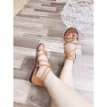 giày sandal đế bệt nữ dây hậu kéo