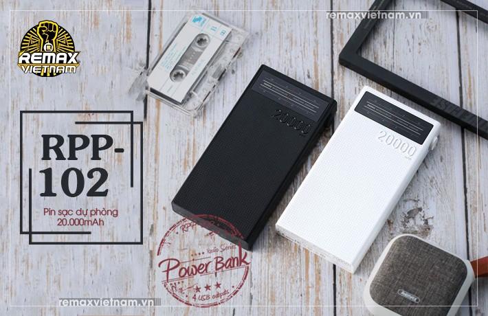 Pin sạc dự phòng 20000mAh 4 cổng USB Remax RPP-102 1