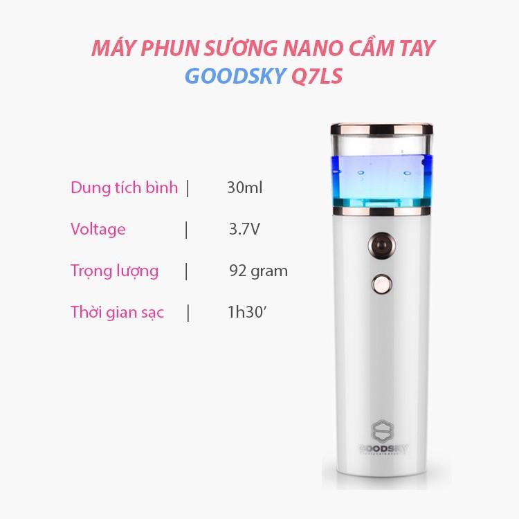 Máy phun sương nano cầm tay dưỡng ẩm cho da goodsky q7ls