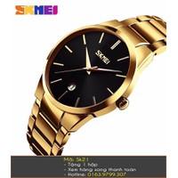 Đồng hồ nam Skmei dây vàng