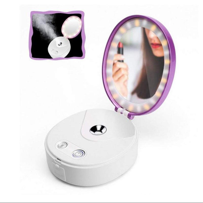 Gương trang điểm Beauty Mirror đa chức năng kết hợp phun sương nano + đèn LED + sạc dự phòng 2