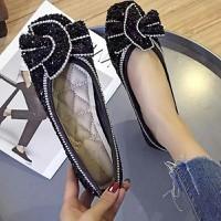 Giày búp bê đính đá siêu xinh