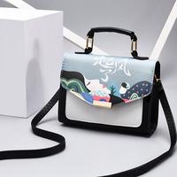 Túi da họa tiết cô gái thời trang