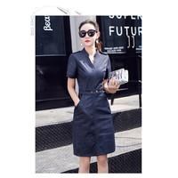 ĐẦM JEAN CỔ TRỤ TAY CON CỰC XINH