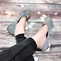Giày búp bê khoá xinh