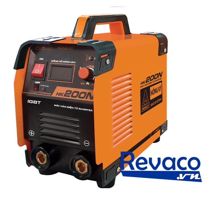 Máy hàn Hồng Ký HK 200N Thông sốSpecificationHK 200N Điện áp vào (V)Input Voltage (V)1 pha 220V ± 15% Công suất đầu ra (KVA)Power Output (KVA)7 KVA Dòng điện ra (A)Output Intensity (A)40 - 150A Điện áp ra (V)Output Voltage (V)65 - 75V Hiệu suấtEfficiency85% Trọng lượng (Kg)Weight (Kg)6Kg Sử dụng que hàn (mm)Welding stick (mm)1.6 - 3.2 mm