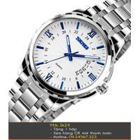 Đồng hồ nam Skmei dây bạc