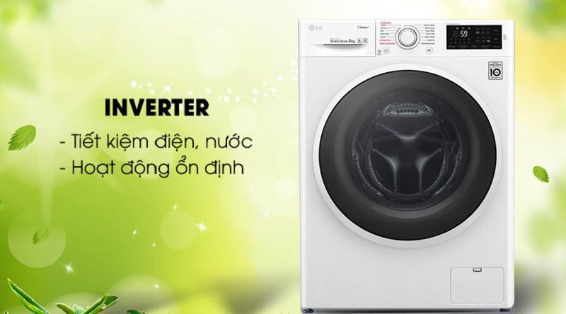 Máy giặt LG Inverter 9 kg FC1409S4W - Tiết kiệm điện nhờ công nghệ Inverter