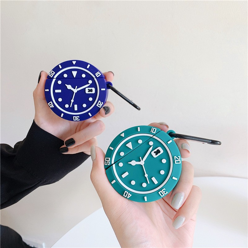 Ốp Airpods 1/2 hình đồng hồ - PK411