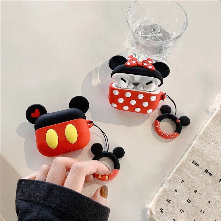 Ốp Airpods Pro silicone Mickey cặp - PK442