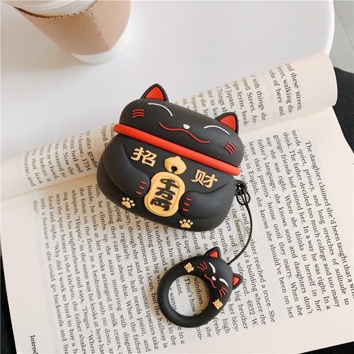 Ốp Airpods 1/2/Pro silicone Mèo Thần Tài - PK447