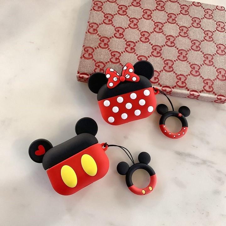 Ốp Airpods 1/2/Pro silicone Mickey cặp - PK442