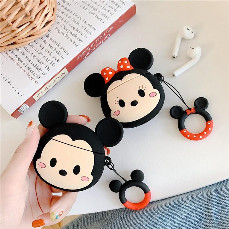 Ốp Airpods 1/2/Pro Mickey & Minnie - PK459