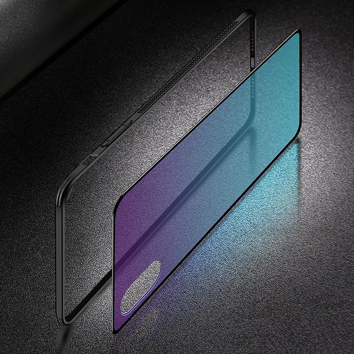 Ốp điện thoại Iphone Xs max lưng kính màu Gradient
