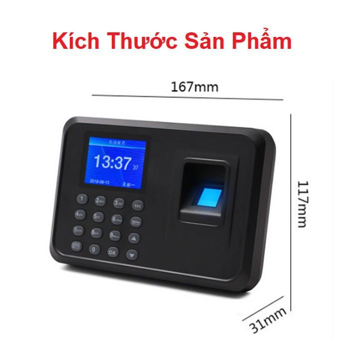 Máy chấm công vân tay F01 giao diện Tiếng Việt + Tặng kèm USB