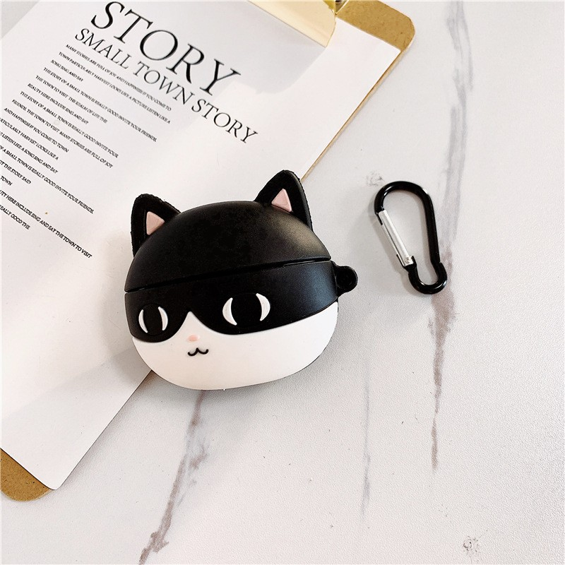 Ốp Airpods Pro Mèo Đen - PK527