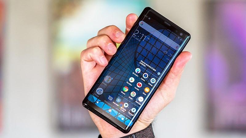 Thiết kế của điện thoại Sony Xperia XZ3