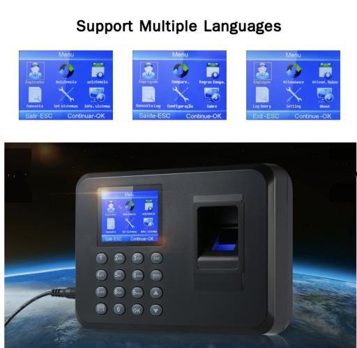 Máy chấm công vân tay F01 giao diện Tiếng Việt + Tặng kèm USB - 6