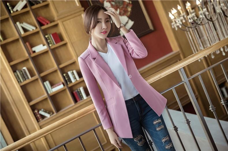 Áo khoác vest nữ thanh lịch - Hồng nhạt