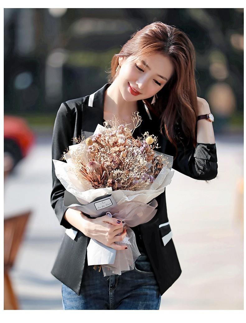 Áo khoác vest đen túi giả cách điệu - Đen