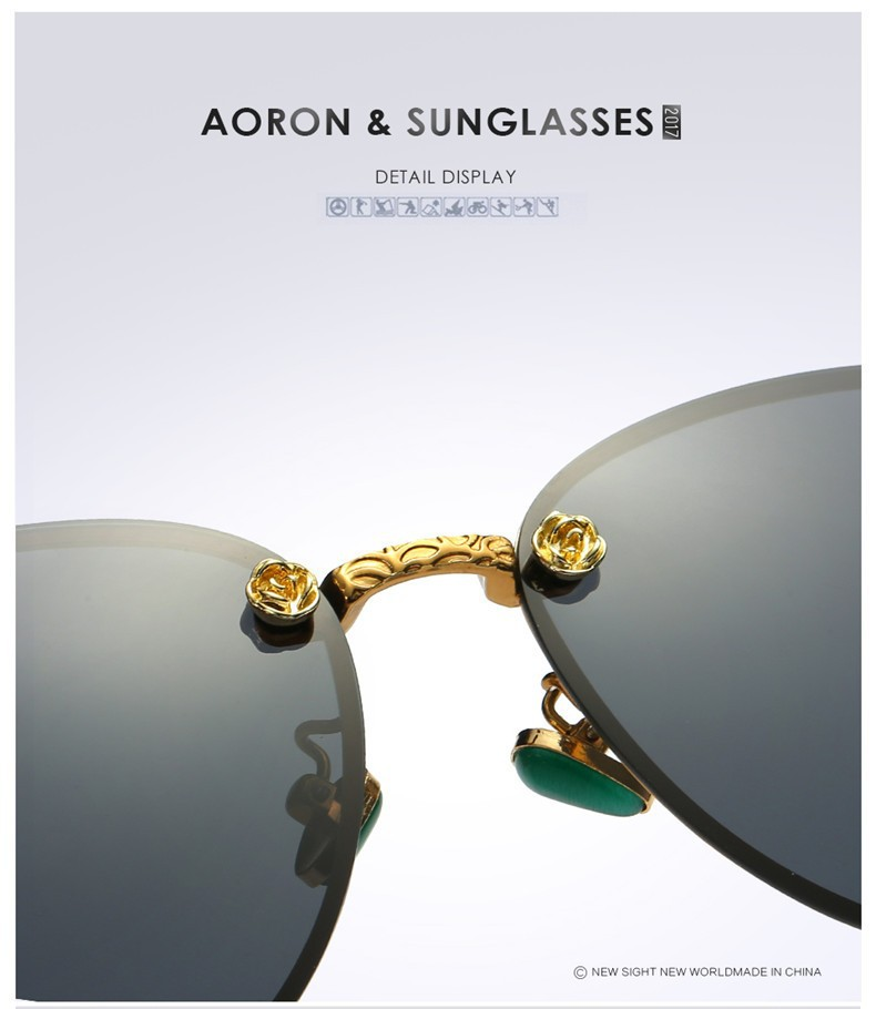 Kính mắt phân cực nữ cao cấp chính hãng aoron, chống tia uv400, thời trang italia2019