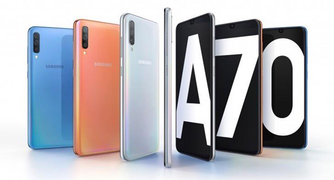 Samsung Galaxy A70 ra mat - man hinh 6,7 inch, 2 camera 32 MP hinh anh 1