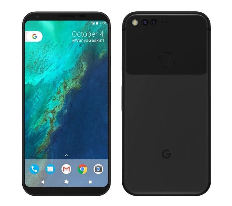 thiết kế đẹp mắt của Google Pixel 2 XL