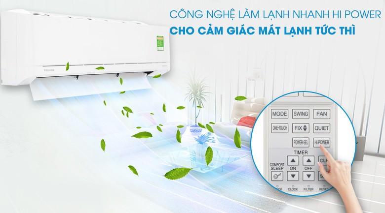 Thông số kỹ thuật Máy lạnh Toshiba Inverter 1 HP RAS-H10XKCVG-V