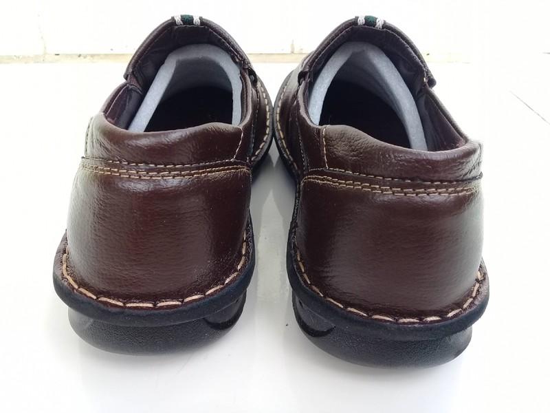 Giày lười nam da bò thật đế khâu
