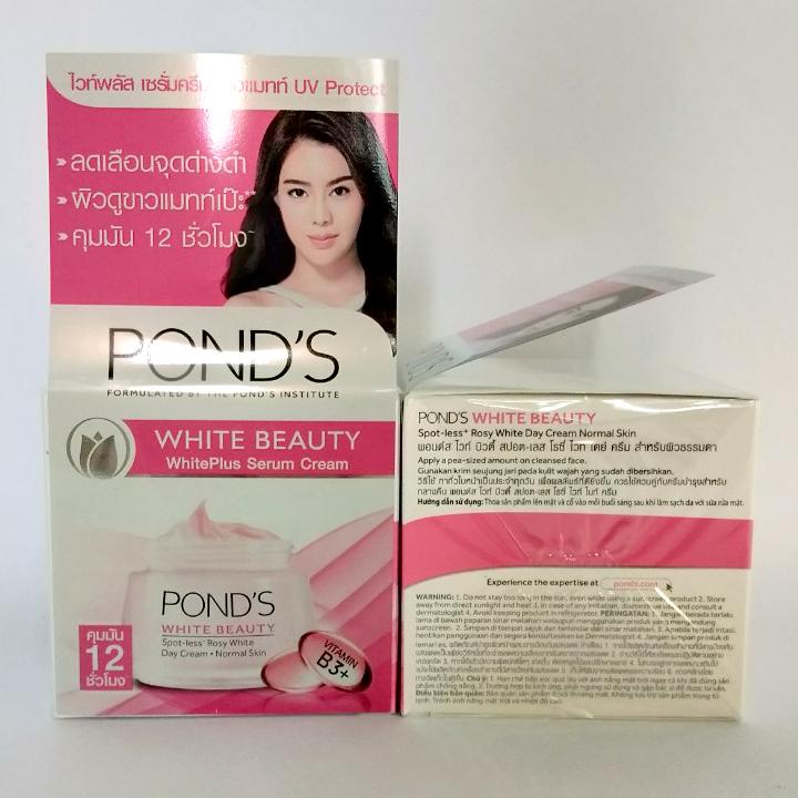 Bộ kem dưỡng trắng hồng ngày + đêm pond's white beauty 50g