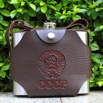 Bình inox cccp cao cấp  4,7l 158oz - tặng kèm bao da và phễu inox