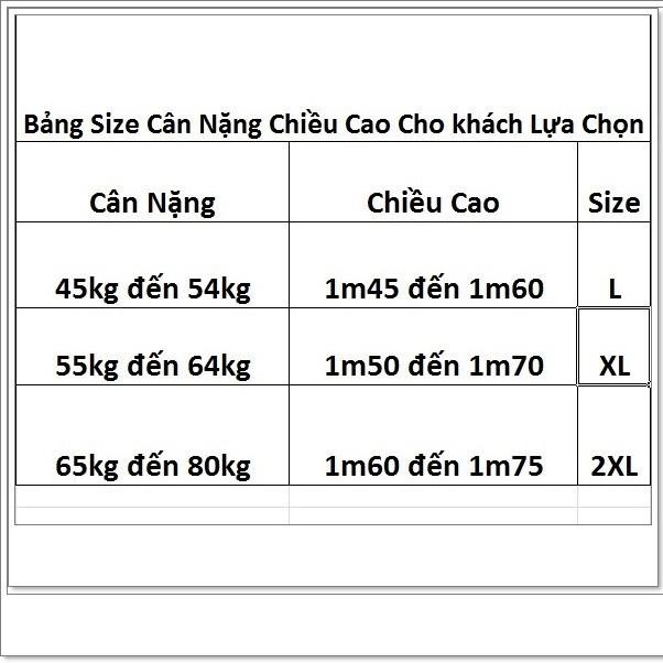 Đồ bộ thun thái 45kg đến 80kg